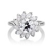 2.87ctw old European Cut Diamond Spray Ring GIA J SI1 0