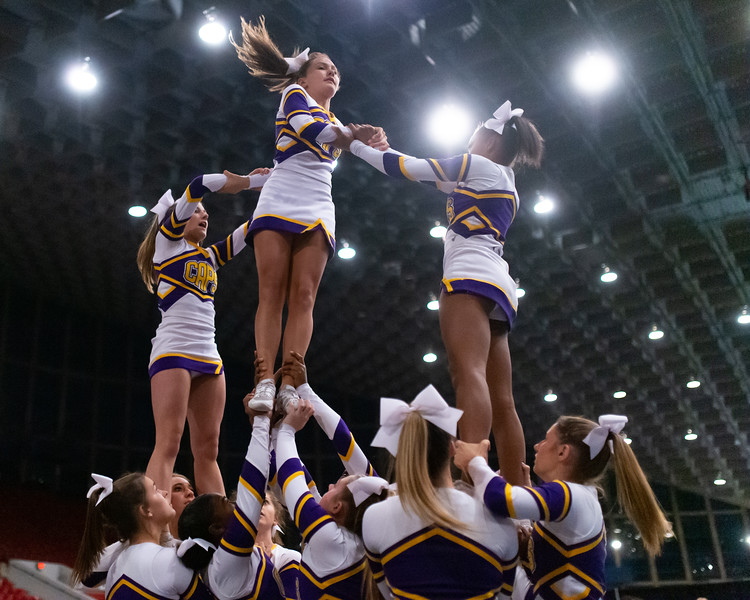 Broughton cheerleading Pre-States. November 16, 2019. D4S_1636