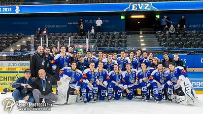 Bronze-Spiel: EVZ Elite A - Medaillenübergabe