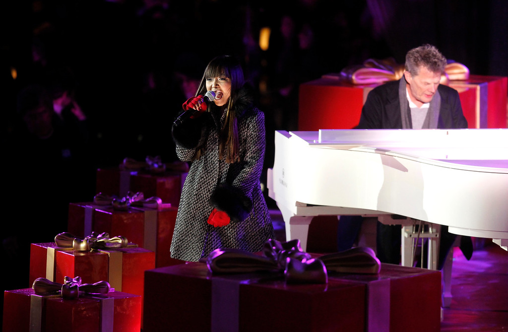 . Singer Charice performs during the 78th annual Rockefeller Center Christmas tree lighting ceremony Tuesday, Nov. 30, 2010, in New York. (AP Photo/Jason DeCrow)