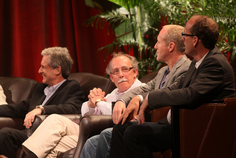 FiReStarters II: (L-R) Eric Darmstaedter, CEO, ClearFuels Technology; Mario Dal Canto, Chair and CEO, SIMtone; Ian Hersey, Global CTO and EVP, Products, Attensity Group; and Alan Smith, Founder and CEO, Vesta Health Systems