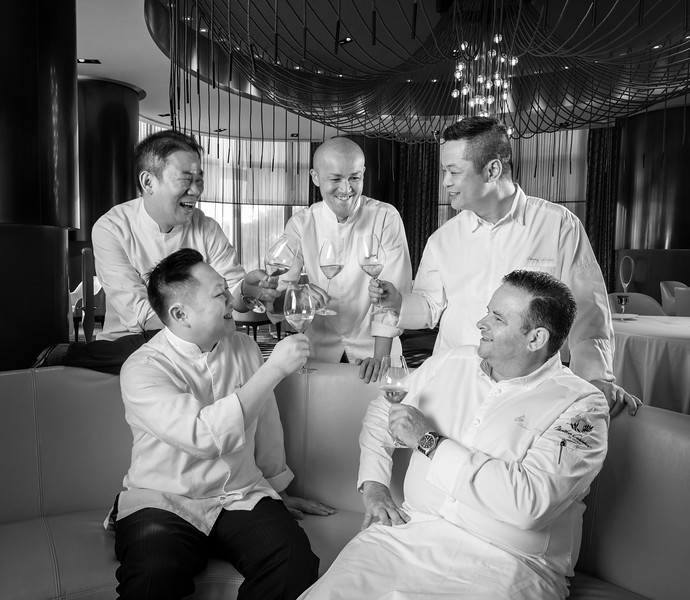 Chefs at the City of Dreams casino resort with Michelin-rated venues.