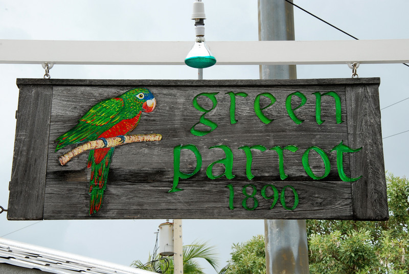 The Green Parrot Bar has been open since 1890 so they claim.  It is also the first and last bar on U.S. 1.