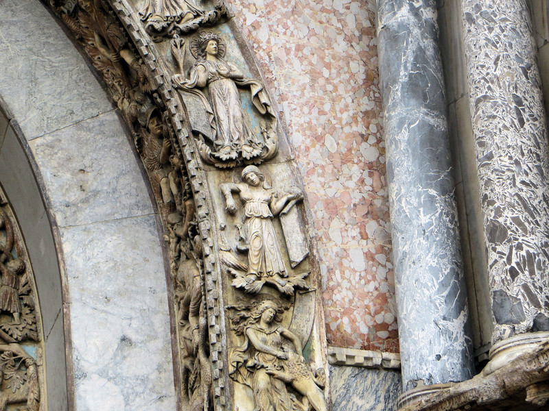 I just liked the juxtaposition of the different colors and textures of marble.