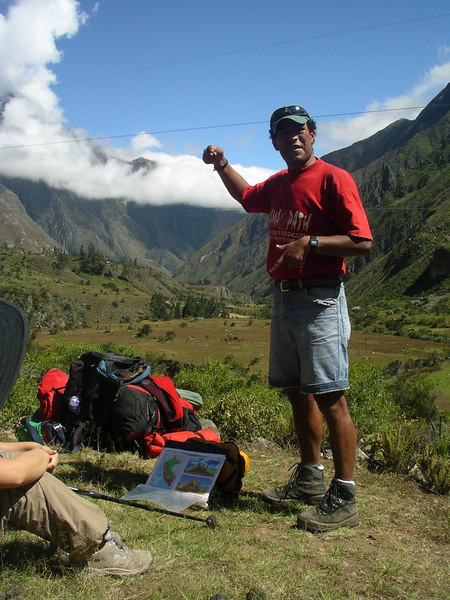 Our head guide, Jose, telling us about the Incas.