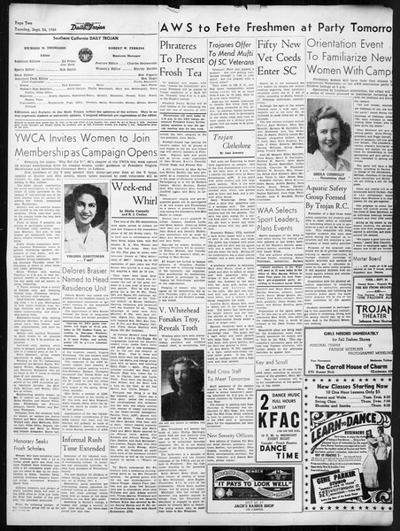 Daily Trojan, Vol. 38, No. 7, September 24, 1946