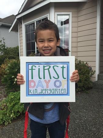 First day Kindergarten Tai