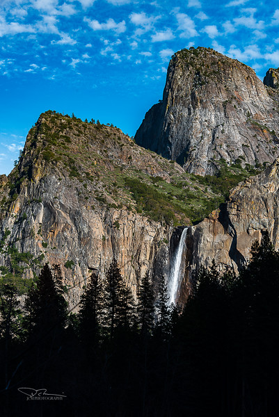 Bridalvail Falls and Cathedral Rocks