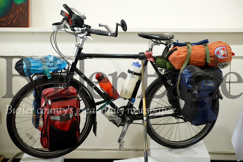 Cyclist and author Chris Register's touring bike. Seb Foltz/Butler Eagle