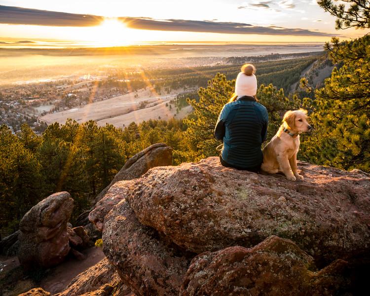 Molly and Autumn Flagstaff Road sunrise-1.jpg