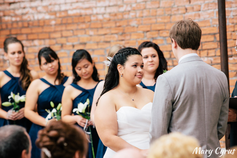 Matt & Larissa's October outdoor wedding at the McKinney Cotton Mill | Photo by Mary Cyrus Photography - Weddings & Portraits in Dallas & Beyond