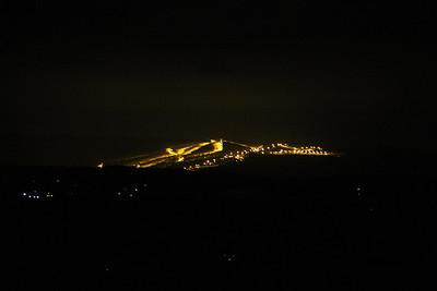 View of Ski Resort from Penn's Peak, Jim Thorpe (2-22-2013)