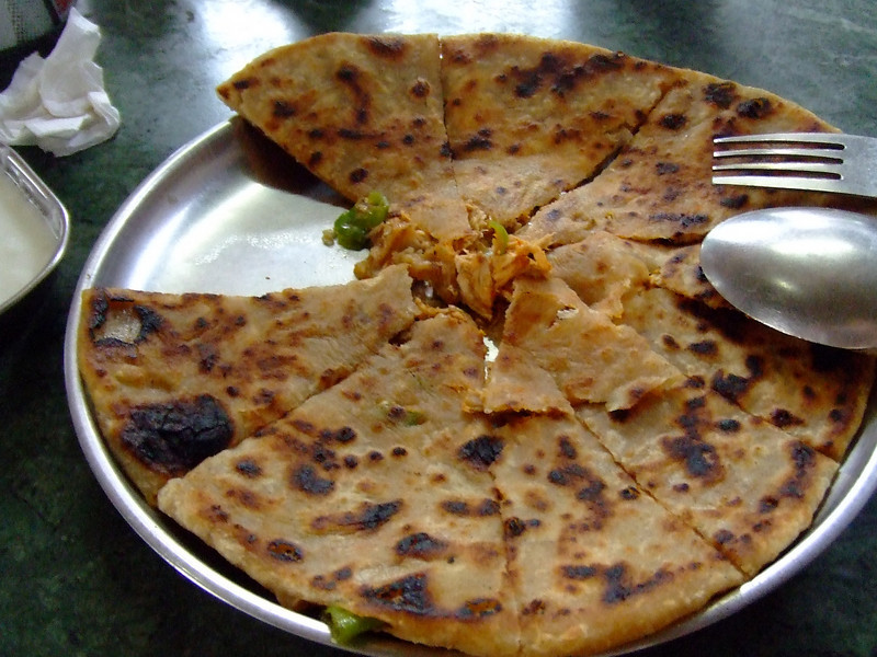 Chicken paratha - I loved all Indian breads and ate very little meat.