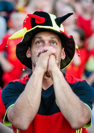 Russia 2018 Brazil-Belgium Lokeren ambiance