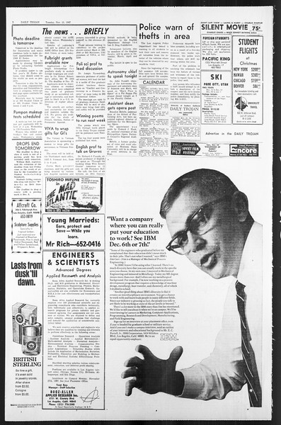 Daily Trojan, Vol. 59, No. 45, November 21, 1967