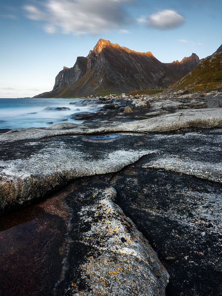 Vikten beach rocks mountain landscape photography lofoten norway.jpg