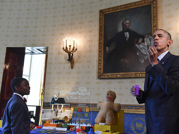 Obama on science: 'It is fun. I love this stuff'