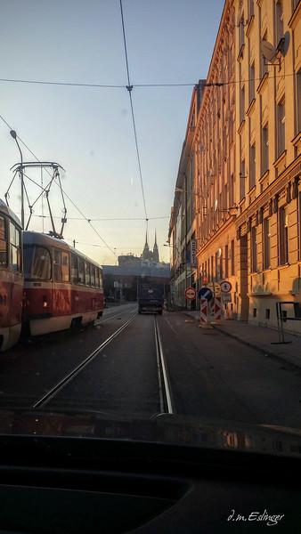 Driving into Brno
