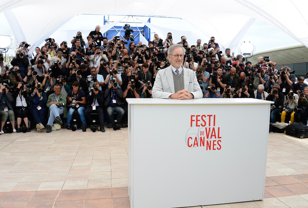 . Peresident of the Jury Steven Spielberg attends the Jury Photocall during the 66th Annual Cannes Film Festival at the Palais des Festivals on May 15, 2013 in Cannes, France.  (Photo by Pascal Le Segretain/Getty Images)