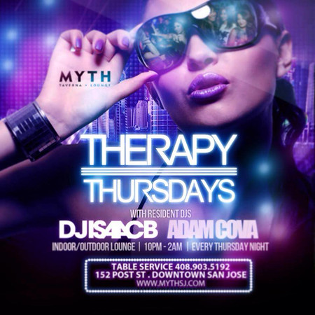 "<font size=""1"">THERAPY THURSDAY @ MYTH TAVERNA 11.6.14"