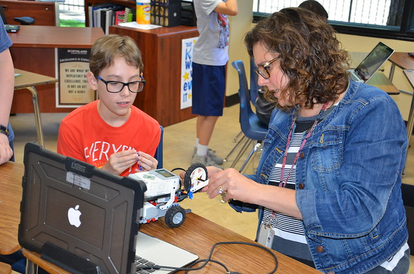 Robotics classroom activities and test runs