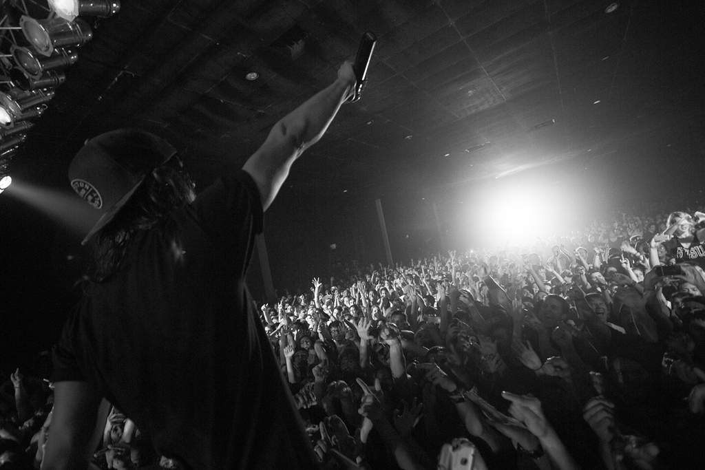 Vic Fuentes of Pierce The Veil at Soma in San Diego, CA