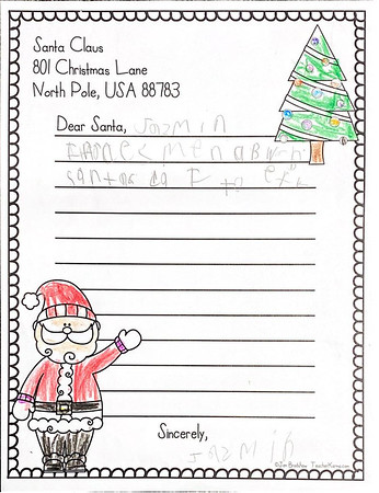 Mrs. Armstrong's First Grade Letters to Santa