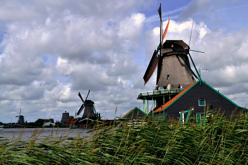 Windmills in Zaanse Schans, Netherlands