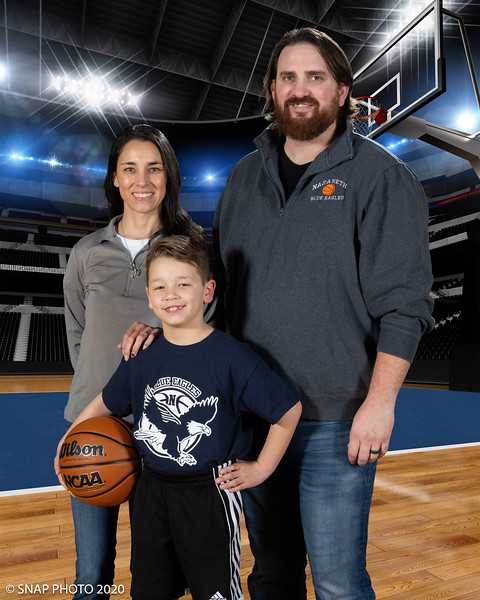 2020 Blue Eagles Basketball Coach-Player Shots