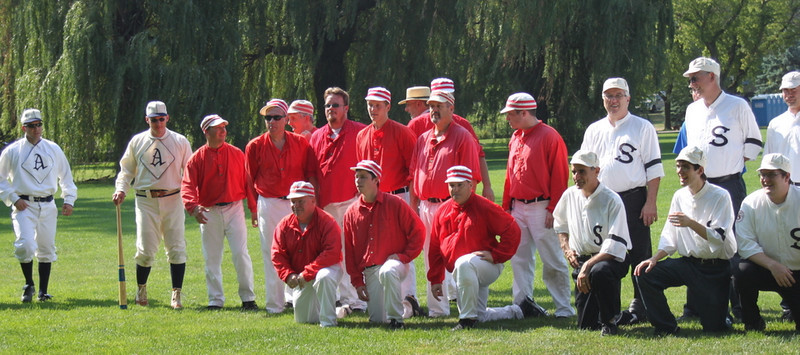 Northern Illinois Vintage Base Ball Tournament on July 7, 2012