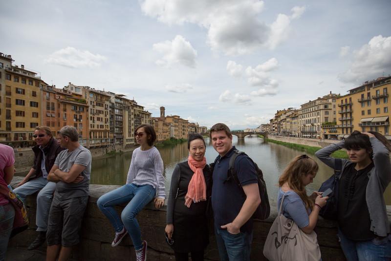 Atop Ponte Vecchio.