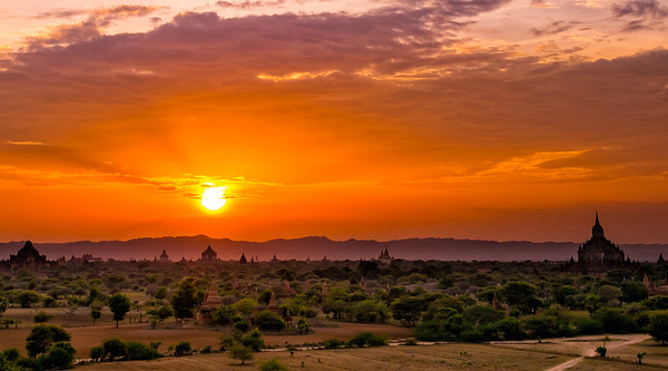 Sunset on Bagan