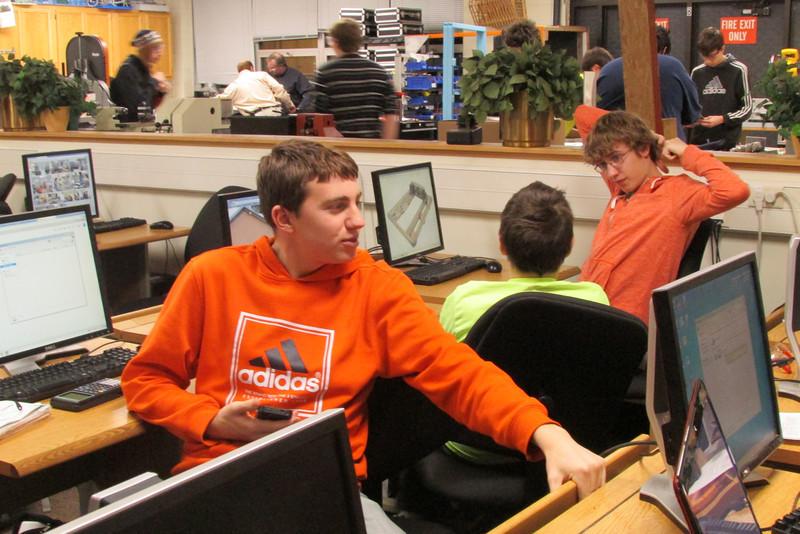 CAD team conversing