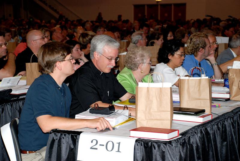 Voting Members voting.