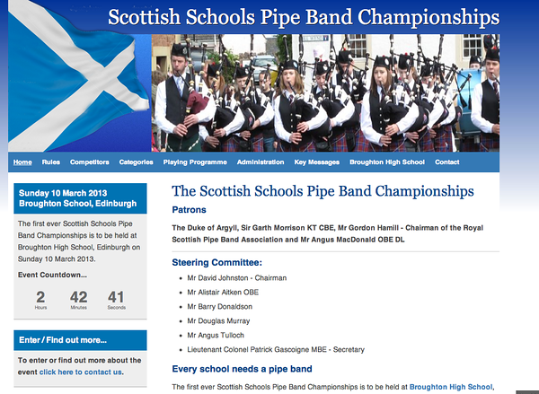Scottish Schools Pipe Band Championships 2013