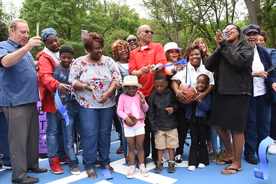 City dedicates renovated basketball courts to the late Tony Boler. 6/2/2018