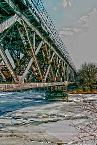 Trestle over Root River Ice