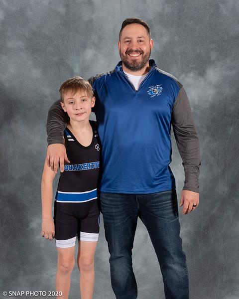 2020 Quakertown Wrestling Coach-Player Shots