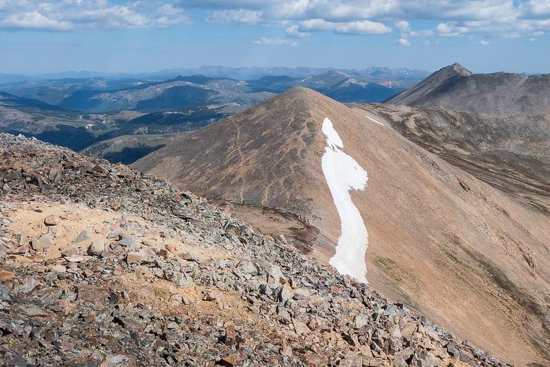 Treasurevault, our third peak goal, from Mosquito Peak