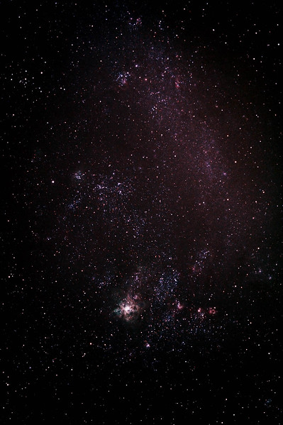 Caldwell 103 - NGC2070 - 30 Doradus - Tarantula Nebula in a wide field shot of its home The Large Magellanic Cloud