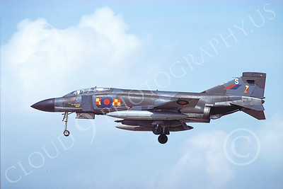 Flying British RAF McDonnell Douglas F-4 Phantom II Military Airplane Pictures