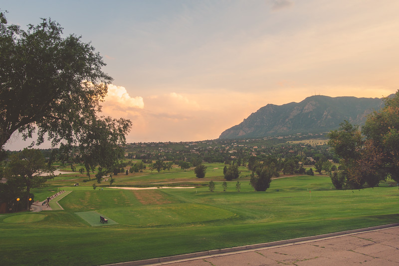 Cheyenne Mountain Sunset