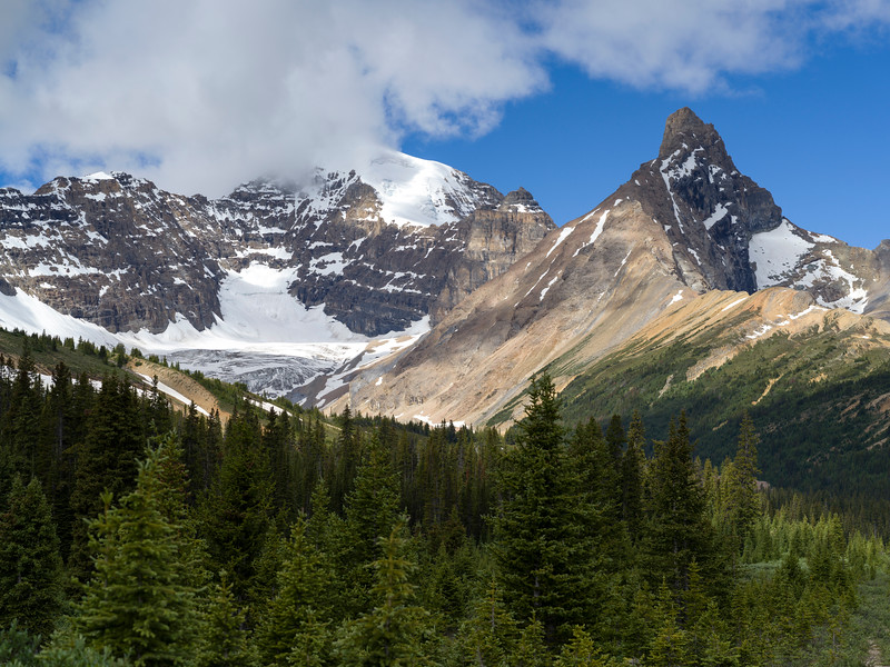 Clouds over mountains, Icefields Parkway, Jasper, Alberta, Canada