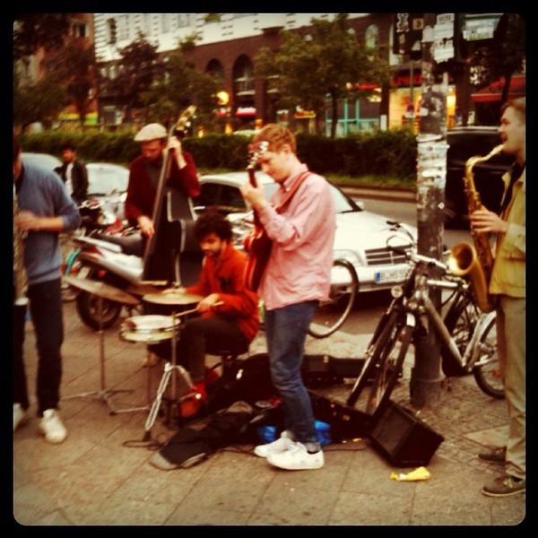 Street band at the weekly market. Kreuzberg, #berlin