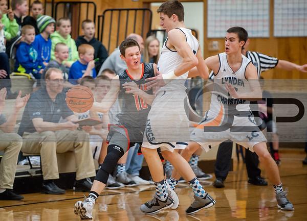2015-1-29 Blaine at Lynden Christian Varsity Basketball