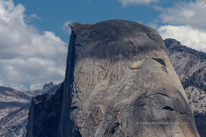 Profile of Half Dome from Taft Point - Yosemite National Park - June 2015