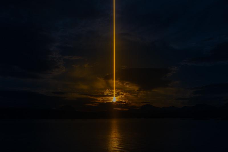 Ofotfjord midnight sun
