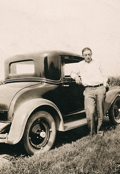 Uncle Norm and his Car.JPG