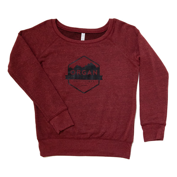Organ Mountain Outfitters - Outdoor Apparel - Womens Outerwear - Fleece Scoopneck Sweatshirt - Cardinal.jpg