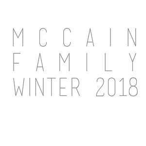 McCain Family Winter 2018